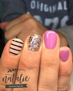 How cool is this using new colors Luxio Exposed and Haven with a g. - How cool is this using new colors Luxio Exposed and Haven with a g… How cool is this using new colors Luxio Exposed and Haven with a glitter nail thrown in? Utah and S Idaho Nail… Love Nails, How To Do Nails, Pretty Nails, Fun Nails, Gorgeous Nails, Shellac Nails, Glitter Nails, Acrylic Nails, Silver Glitter