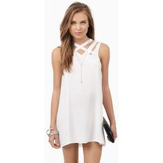 Tobi Chrissy Cross Shift Dress ($56) ❤ liked on Polyvore