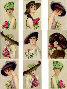 Imprimolandia: Vintage Ladies illustration Other vintage women images Free…