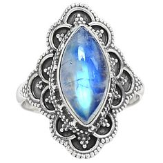 Rainbow Moonstone 925 Sterling Silver Ring Jewelry s.9 SR190606 | eBay