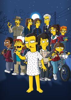 Stranger things the simpsons Stranger Things Actors, Stranger Things Aesthetic, Stranger Things Funny, Stranger Things Season, Stranger Things Netflix, History Channel, Pop Vinyl Figures, Sirius Black, The Simpsons