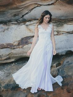 Isobel Gown by Amy New Boheme | Beach Wedding Dresses from Etsy