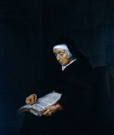 Gabriel Metsu – Old Woman Meditating (c. 1660)
