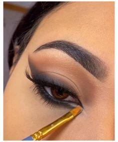 90s Makeup, Baddie Makeup, Edgy Makeup, Makeup Eye Looks, Eye Makeup Art, Eyeshadow Looks, Skin Makeup, Eyeshadow Makeup, Brown Makeup Looks