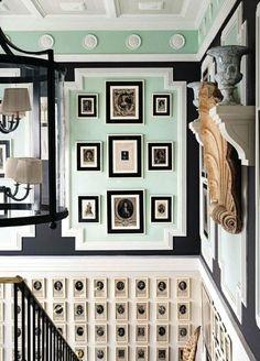 Lorenzo Castillo // mint + black #display #walls