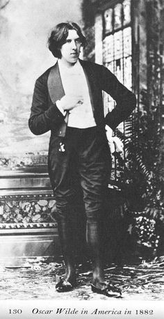 Oscar Wilde in America 1882. This was during his Aesthetic period and the manner a dress was meant to cause a stir.  He succeeded.