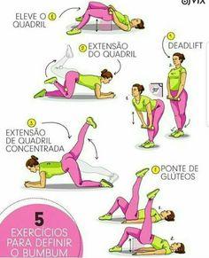 5 exercícios para o bumbum