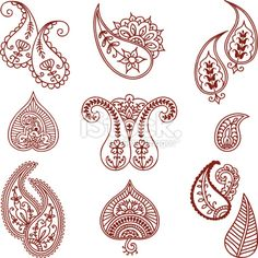 Mehndi+Paisley+Deigns+Royalty+Free+Stock+Vector+Art+Illustration