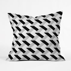 "Create a ""pop"" in your minimalist, modern décor with the geometric eccentricities of the City Limits Throw Pillow. Custom made for every order, this heavy-weight indoor pillow is fashioned from woven polyester, is printed on both sides, and also has a concealed zipper with bun insert for easy care."
