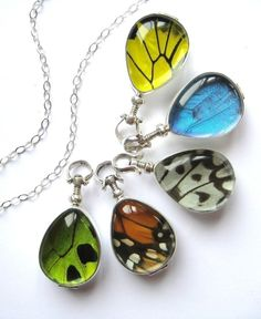 Real Butterfly Wing Heirloom Necklace