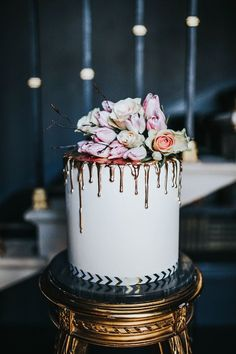 Drip cakes have made it big over the last 2 years, now they are starting in infiltrate the wedding industry… already starting to fill our Pinterest pages they will be around for another coupl…