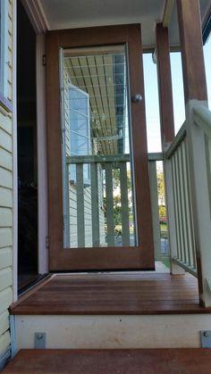 New back door, with venetian windows