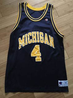 7f2600ce5 1992 Michigan Wolverines Chris Webber Champion Jersey 48 XL RARE Fab Five  NCAA