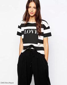 camiseta feminina listrada