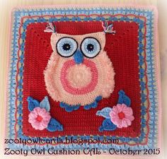 It gives me great pleasure to announce my 4th CAL (crochet-a-long):    THE ZOOTY OWL CUSHION CAL!!!!!