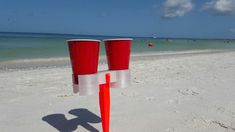 3D printed Double beverage holder for beach or picnic