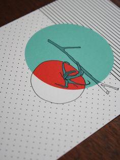 postcard - polypodium - graphic design - illustration - Tomate - tomato