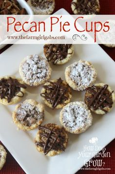 Pecan Pie Cups are a miniature version of the sweet Pecan Pie. A flaky ...