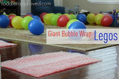 Jumping on giant bubble wrap Legos was the highlight of my son's Lego birthday party this weekend! What are some other ways you've used bubble wrap?