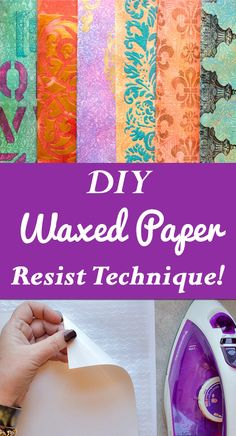 DIY Embossed Waxed Paper Resist Technique by Heather Tracy for The Graphics Fairy!  Such a great Craft Technique!