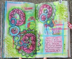 doodles & watercolour arty pages