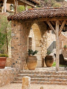 Natural Mediterranean House on the Hill: Amazing Traditional Porch Design With Pitches Silverleaf Residence 2 ~ warnhouse.com Architecture Inspiration