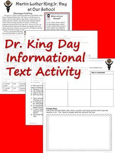 Informational text reading with activity sheets for Dr. Day, for middle school and upper elementary classes - part of the Informational Text Celebrations Packet Reading Comprehension Skills, Reading Skills, Teaching Reading, Christmas Language Arts, Informational Texts, School Plan, Thing 1, Activity Sheets, Close Reading