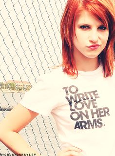 to write love on her arms.♥  Hayley Williams