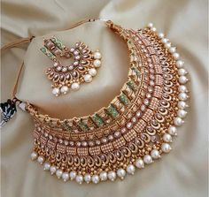 Antique Jewellery Designs, Fancy Jewellery, Gold Jewellery Design, Stylish Jewelry, Diamond Jewellery, Jewellery Photo, Bridal Jewellery Designs, Wedding Jewellery Collections, Silver Jewellery