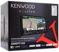 """Kenwood DNN991HD 2-DIN Bluetooth DVD NAV In-Dash Receiver 6.95"""" LCD Touchscreen…"""