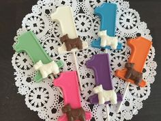 NUMBER ONE DOG Chocolate Lollipop  1st by CandyConfections on Etsy