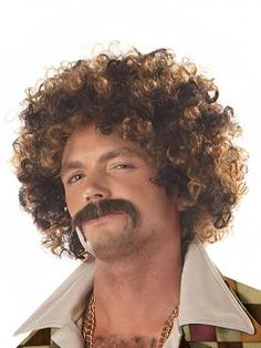 Disco Dirt Bag Wig & Moustache | California Costumes www.californiacostumes.com