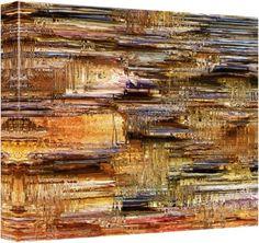 """Quadro Abstrato """"Bronze Escavado"""" de Carlos Alber — Reprodução em alta definição (gicleé) com pigmento mineral sobre canvas premium e acabamento texturizado."""