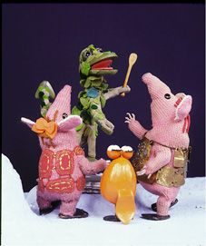 The clangers with the soup dragon ..I could understand what they were actually saying - how sad is that!