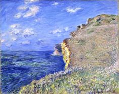 La Falaise à Fécamp by Claude Monet Aberdeen Art Gallery and Museums Collection