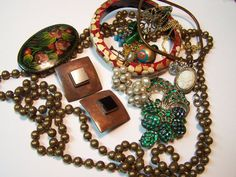 Tried and True  brooch necklaces and earrings   by UtterDebotury, $16.99