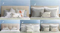 Interior Design Boards, Pillow Arrangement, Pillows on bed, accent ...