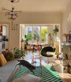Dream Home Design, Home Interior Design, House Design, Dream Apartment, Apartment Interior, Vintage Apartment, Cozy Apartment, Aesthetic Room Decor, Dream Rooms