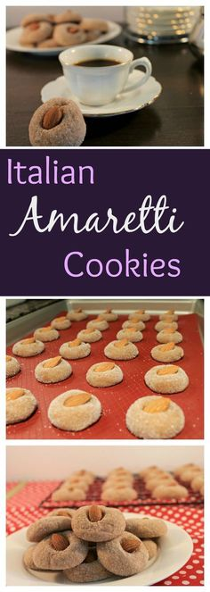 A Classic Italian Amaretti Cookie- a tasty almond cookie with the right amount of sweetness, makes 8 dozen cookies!