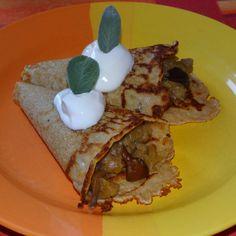 Recept Celozrnné omeletky od Jan Stříbrný - Recept z kategorie Hlavní jídla - vegetariánská Eggs, Breakfast, Food, Morning Coffee, Essen, Egg, Meals, Yemek, Egg As Food