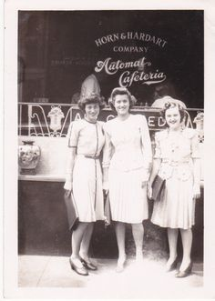 Downtown Ladies- At The Automat Cafeteria- 1940s