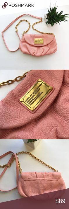 Marc By MARC JACOBS Karlie Cross Body Purse 👛 Marc By MARC JACOBS Karlie Cross Body Purse 👛  Condition: NWOT Gorgeous leather purse by Marc jacobs a must have color. Very rare in baby pink/ soft pink color. Originally purchased at Bloomingdales in Santa Monica, CA ☀️ Never had the chance to wear it since I also have it in black. Small little scuff from being in my closet on back of purse not noticeable (see photos) grab these gem quick! 😊 Marc By Marc Jacobs Bags Crossbody Bags