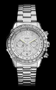 Zilver Guess horloge W0016L1 €229.95