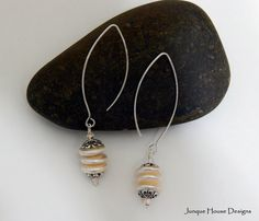 Triple Stack Freshwater Coin Pearl Earrings by JunqueHouseDesigns