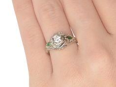 Filigree Femininity - Vintage Diamond Ring - The Three Graces
