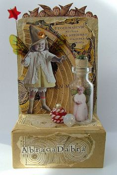 Nawwww how sweet is this Altered Bottle with a captured fairy to <3