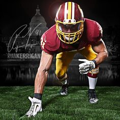 LB Ryan Kerrigan looks ready to chase down opposing QBs. How many sacks do you think he will have this season? Redskins Baby, Redskins Football, Football Players, Football Helmets, Arena Football, Football Stuff, Nfc East, South Carolina Gamecocks, Sports Figures