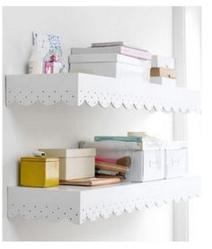 Cutsey shelves for the bathroom