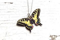 Yellow Swallowtail Butterfly Yellow butterfly by SpringSky on Etsy, $22.00