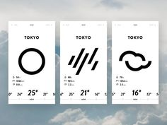 Weather App UI designed by TATSUYA Sawanobori. Connect with them on Dribbble; App Ui Design, Web Design, Module Design, Ui Design Mobile, Design Responsive, Flat Design, Site Design, Graphic Design, Gui Interface